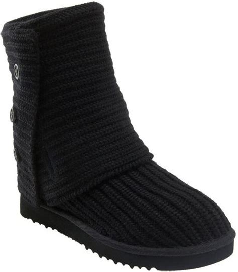 ugg australia cardy classic knit boot women ugg cardy classic knit boot women in black lyst
