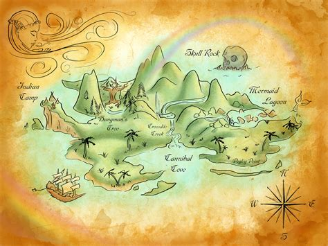 neverland map neverland map by mercedesjk d5x4qcm jpg 1024 215 768 jake and the neverland