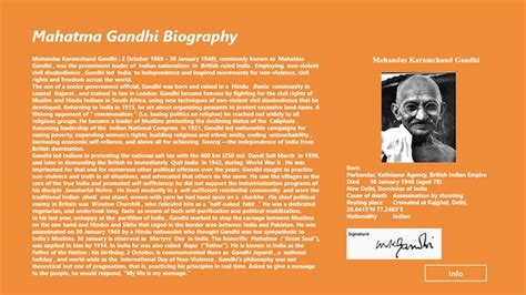 mahatma gandhi biography mahatma gandhi biography for windows 8 and 8 1