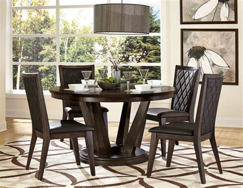 villa vista 5157 54 dining table by homelegance homelegance 5pc walnut dining set modlivingdecor