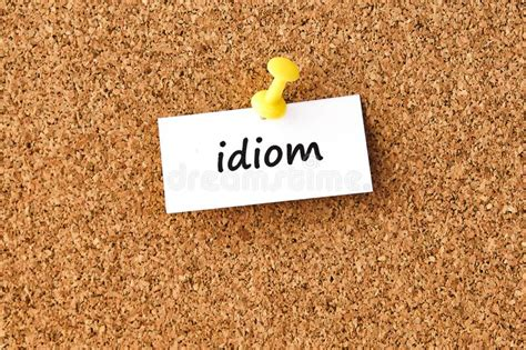 idiom word concept  cubes stock photo image
