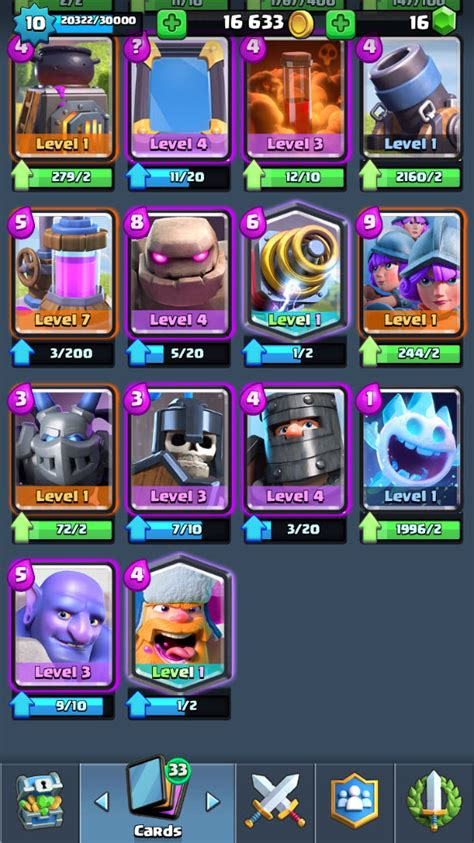 r85 clash royale lvl 10 legendary princess lvl 2 wizard1 miner