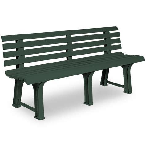 panchina plastica panca panchina plastica verde 3 posti animalmarketonline