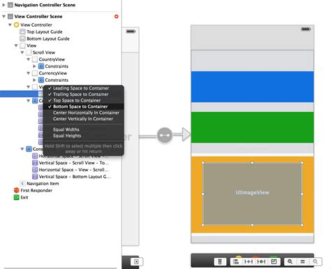 remove layout constraints xcode storyboard life of i