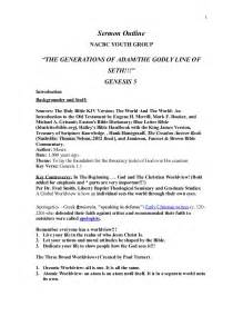 Outline Sermon About by Sermon Outline Genesis 5 Nacbc