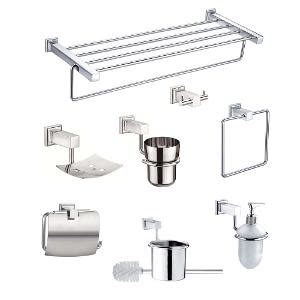 splash bathroom accessories jwell 8 pc stainless steel bathroom accessories set