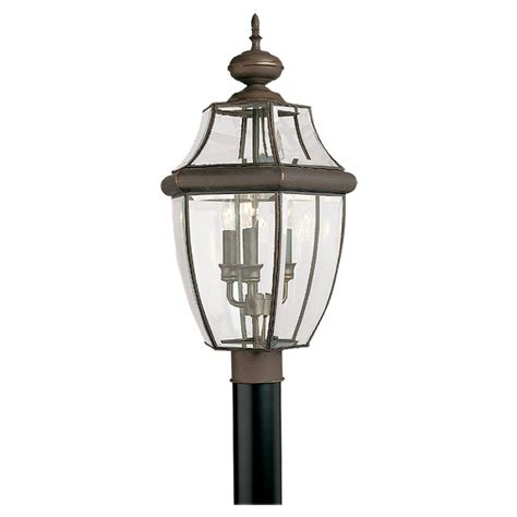 Post Light Fixtures Shop Sea Gull Lighting 3 Light Lancaster Outdoor Post Fixture At Lowes