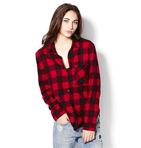 Boyfriend Shirts Plaid Boyfriend Shirt Garage Aberdeenmall S