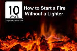 10 ways how to start a without a lighter