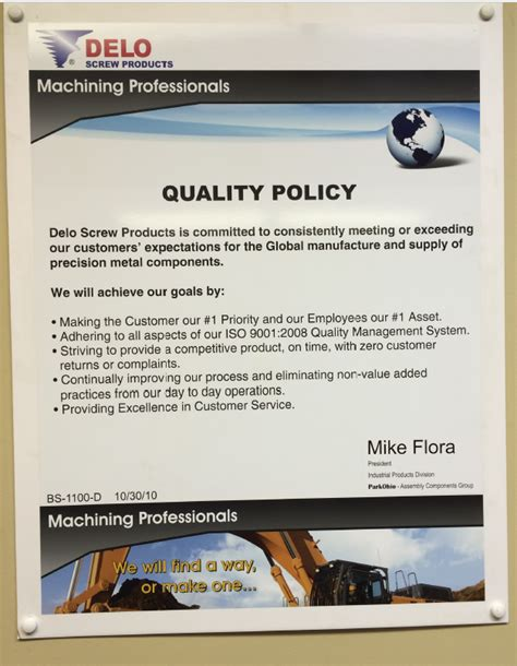 quality policy template quality policy delo products