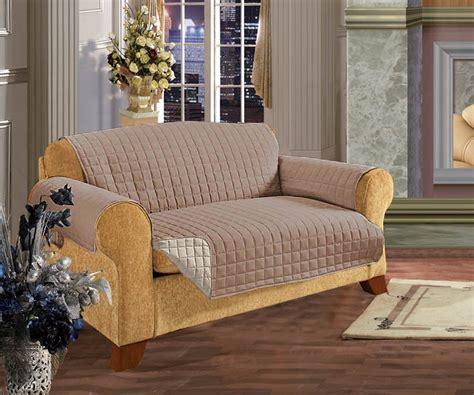 elegant comfort reversible quilted sofa cover creamtaupe