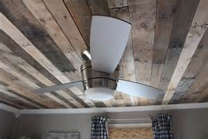 Partially Color Blind Remodelaholic Rustic Pallet Wood Ceiling Tutorial