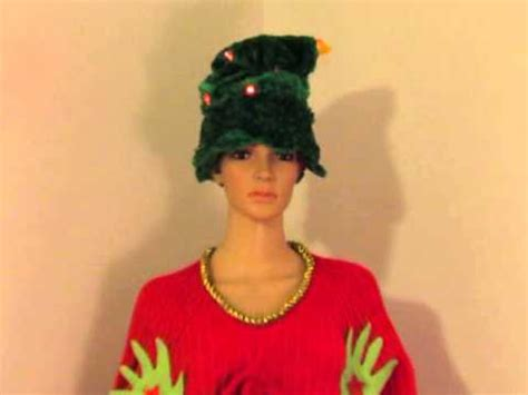 dancing christmas tree hat sweater dress grinch singing tree hat for sale