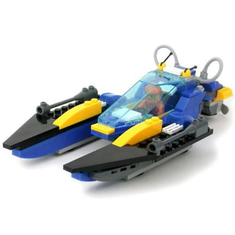lego boat full size twin hull speed boat lego compatible from slick bricks
