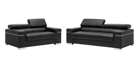 livingroom soho soho leather living room set black jm furniture