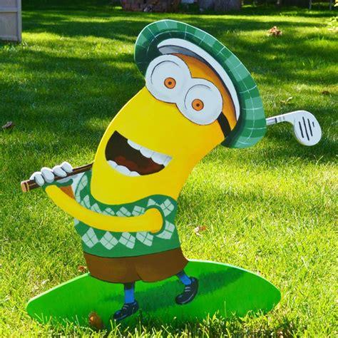 Minion Yard Decorations by Lawn Stake Kevin Minion Golf Yard Decor