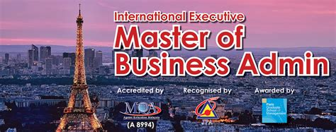 Master Of Mba In Malaysia by International Executive Master In Business Administration