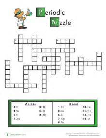 periodic table crossword puzzle worksheet education