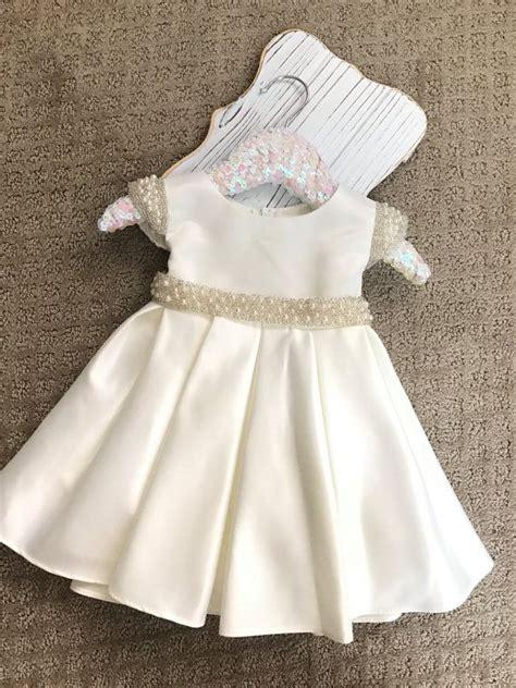 Dress White Babyborn vintage christening baptism baby dress white satin baby dress dedication ceremony gown