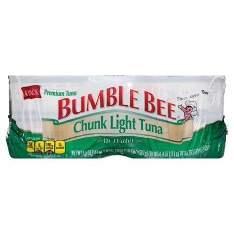 bumble bee chunk light tuna bumble bee chunk light tuna in water 5 oz 4 pk target