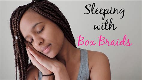 how to make box braid less heavy how to sleep with box braids youtube