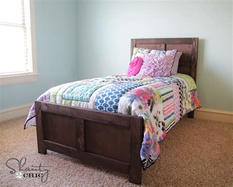 diy twin bed diy bed pottery barn inspired shanty 2 chic