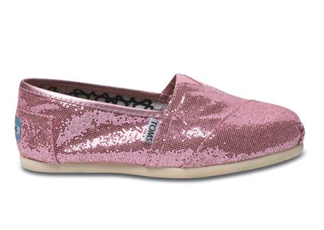 tom shoes pink toms shoes pink glitter pink wedges and classic