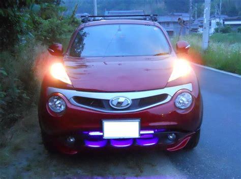 purple nissan juke nissan juke with impul grill and purple led under lighting