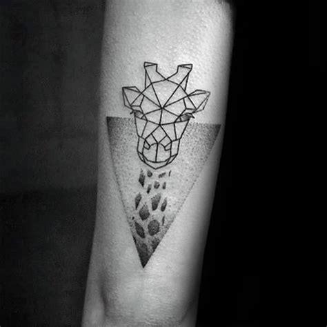 minimalist giraffe tattoo 90 giraffe tattoo designs for men long neck ink ideas