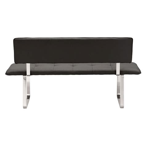modern dining bench with back nadia black modern dining bench eurway furniture