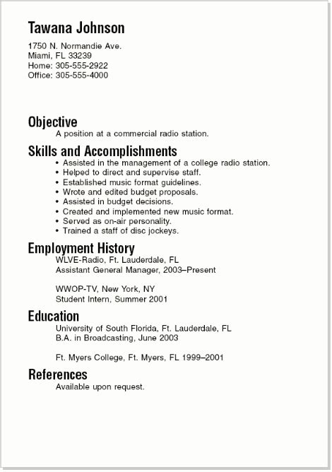 resume examples for recent college graduates - Resume Templates For Recent College Graduates