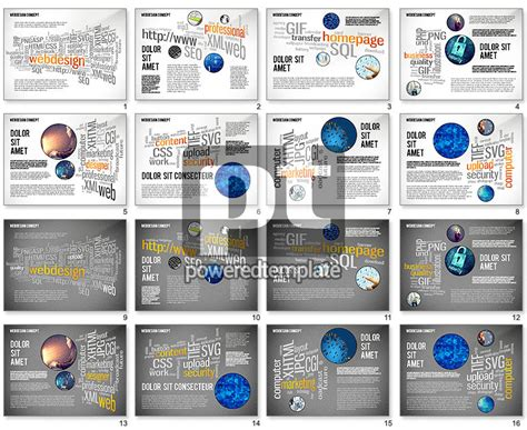 Webdesign Word Cloud Presentation Template For Powerpoint Presentations Download Now 02605 Word Presentation Templates
