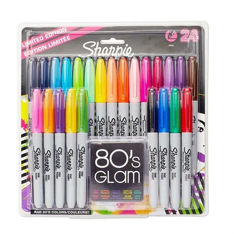 colored permanent markers sharpie tip permanent marker 24 pack assorted colors