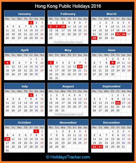 new year 2015 hong kong schedule hong kong holidays 2016 holidays tracker