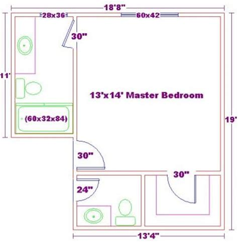 Master Bedroom Bathroom Size by Click To View Size Image