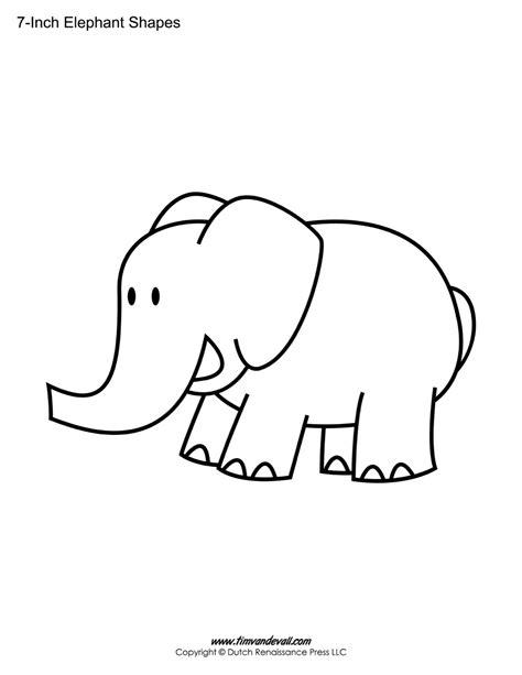 printable elephant shapes printable elephant templates elephant shapes for kids