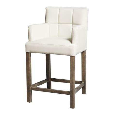 chaise de bar kyo blanc accoudoirs