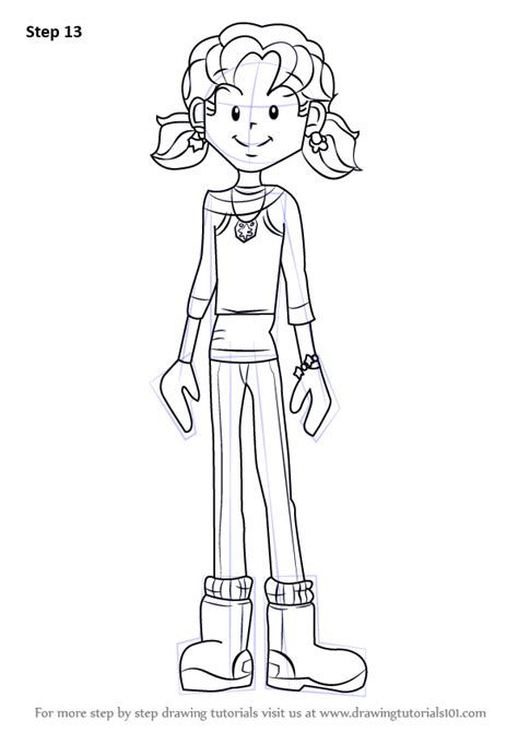 Learn How to Draw Nikki Maxwell from Dork Diaries (Dork Diaries) Step by Step : Drawing Tutorials