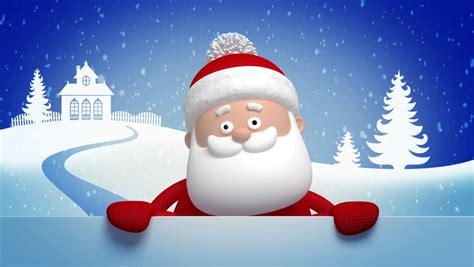 christmas santa claus animated greeting stock footage video  royalty