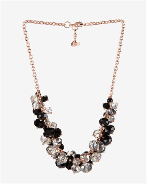 cluster bead necklace ted baker cluster bead necklace in pink lyst