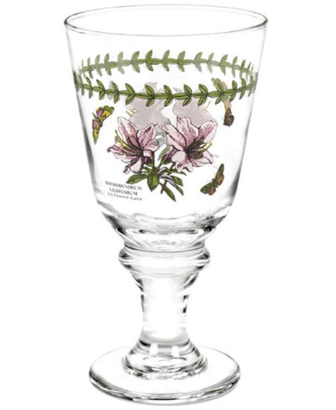 Portmeirion Botanic Garden Wine Glasses Portmeirion Glassware Set Of 4 Botanic Garden Wine Glasses Dinnerware Dining Entertaining