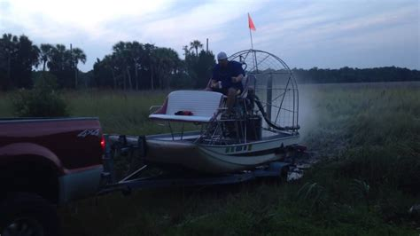 airboat pushes truck airboat pushes ford truck out of water youtube