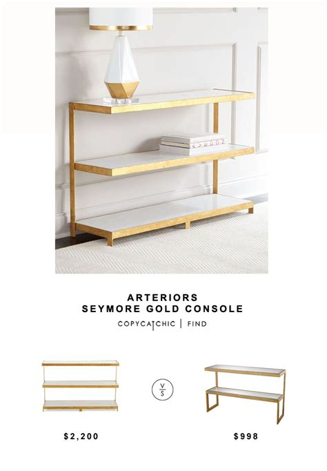 table ls for less arteriors seymore gold console table copycatchic