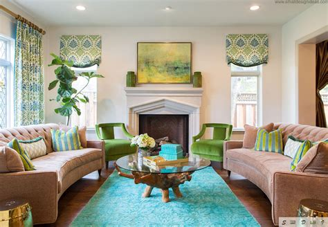 Colorful Chairs For Living Room Middle Size Living Room Color Ideas Original Green Colors In The Bright Vintage Interior Loversiq