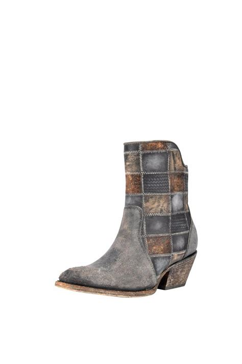 Corral Patchwork Boots - corral boots patchwork bootie from roanoke by fort