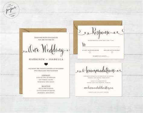 diy rsvp wedding cards template printable wedding invitation set wedding invitation