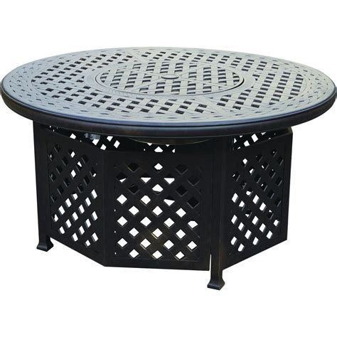 Cast Aluminum Pit Table series 30 48 inch cast aluminum pit chat table by darlee ultimate patio