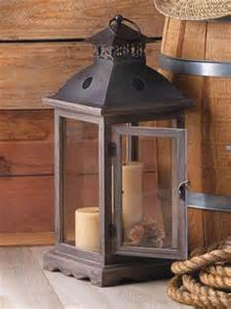Home Decor Wood Rustic Decorative Western Vintage Antique Look Wood Candle Lantern Home Decor Ebay