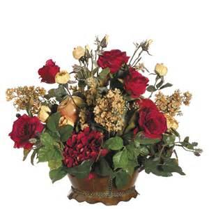 flower arrangements centerpieces roses and fruit in a simple silk flower centerpiece ideal