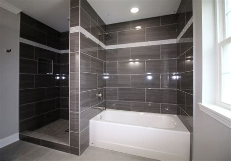 Tub And Shower Gray Tile Shower And Tub Surround Ac Home Design